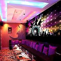 Lqwx Personalizado Cantando Música Rock Bar Discoteca Ktv Club Nocturno Que Cubre La Pared Murales De Papel Tapiz Para Paredes 3 D Papel De Pared Decoracion 400Cmx280Cm
