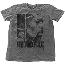 Jimi Hendrix T Shirt Let Me Live Distressed offiziell Herren Nue Charcoal Snow