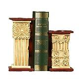 FayooChristmas Bookends, Roman Columna Libro Carpeta Creativo casa Estudio Libro Archivo decoración Resina artesanía Suave decoración