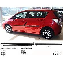 Spangenberg Listones de protección Lateral, Color Negro, para Toyota Verso Van Kombi Antes de