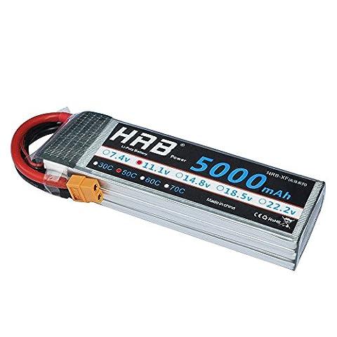 Ailikeoprte Batterie Lipo de rechange 11.1V 5000mAh 50C Prise XT60 pour Modélisme Drone FPV Avion UAV Hélicoptère Quadcopter