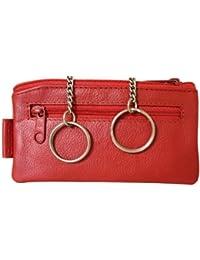 Sattler + Co. Schlüsseletui, 105110 003, Damen und Herren Schlüsseletui, Leder, rot