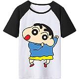 Crayon Shin-Chan Camiseta Verano de la Camisa de Manga Corta Camiseta Suave con Estilo de Dibujos Animados T Imprimir Airy Ca