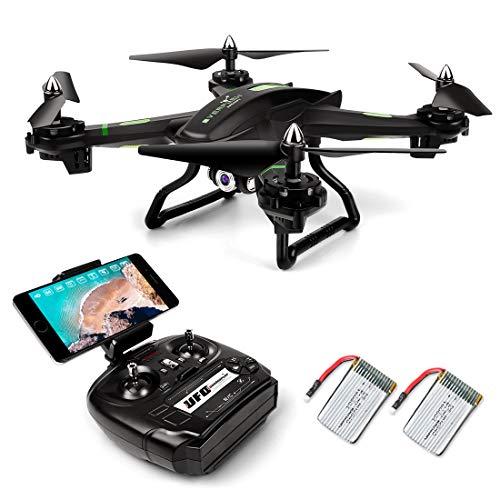 LBLA FPV Drone con WiFi Camera Live Video Headless Mode 2.4 GHz 4 CH 6 Axis Gyro RC Quadcopter, Compatibile con Due Batterie