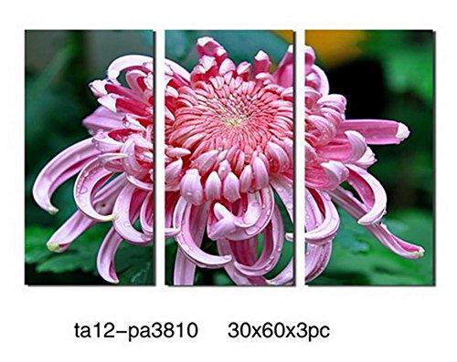ZTYR Parete arte tela Set 3 pannelli crisantemo Hot vendita casa murale contemporaneo floreale dipinti astratti su tela allungato telaio in legno all