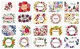 Hochwertiges Dankeskarten Set (20 Stück) mit Umschlag für Hochzeit, Einschulung, Taufe, Geburt, Schulanfang - Florales Danke Karten Set um Danke zu sagen - Dankeschön Karten mit Blumen - Danke für Hilfe, Kollegen, Hebamme, Baby - Vielen Dank für alles