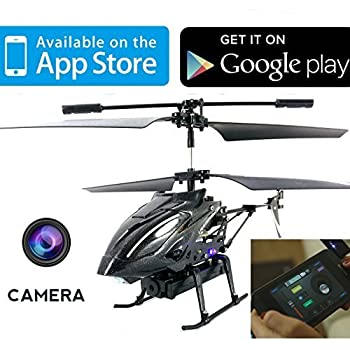 iHelicopter With Camera - iCam Lightspeed Android / iPad / iPhone Controlled i-Helicopter With Camera For Video & Stills by ThinkGizmos (Trademark Protected)