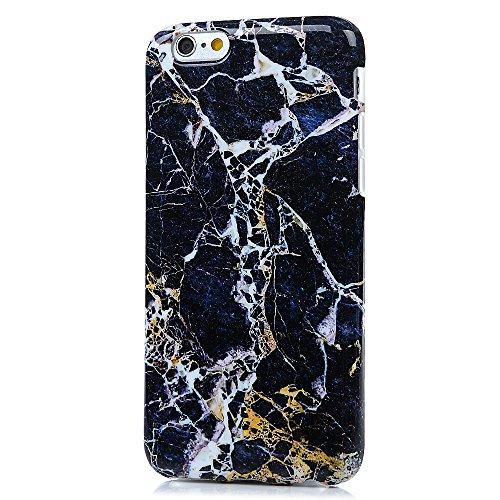 "iPhone 6/6S Hülle Case YOKIRIN Silikonhülle für iPhone 6/6S (4.7"") Premium Marmor TPU Silikon Case Cover Handyhülle Handytasche Etui Handycase Flexible Transparent Rahmen Rutschfest Kratzfest Schutzhü Gold"