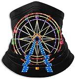 Belongtu Scaldacollo Maschera Bocca Ferris Wheel Neck Warmer Gaiter Fleece Ski Face Mask Cover for Winter