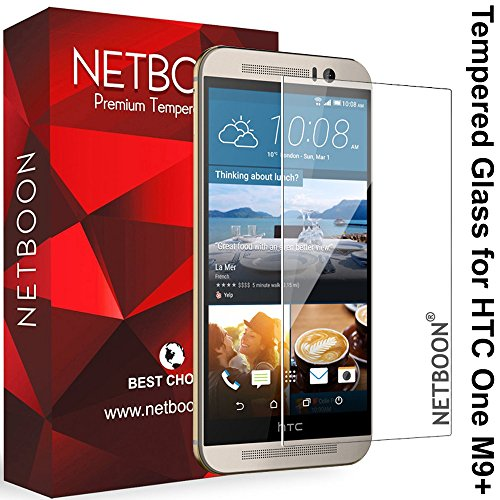 NETBOON® Branded HTC One M9+ (Plus) Tempered Glass Screen Protector...