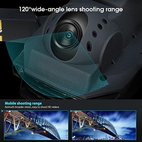 Drone EACHINE E58 con cámara de HD de 720MP para niños cuadricóptero con cámara gran angular de 2.0MP y resolución de 720P. Control de altura de vuelo. Diseño de trayectoria de vuelo. Drone plegable con cámara WIFI