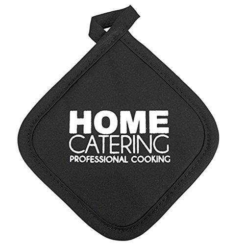 Topflappen Home Catering, schwarz, ca. 20 cm
