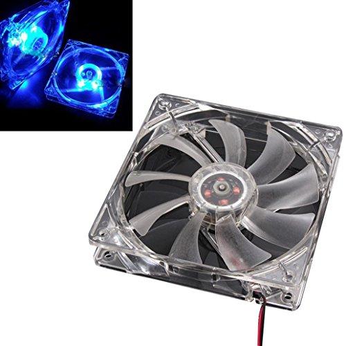 ugelgelagert 4Pin 120mm 12 V DC temperaturgeregelt Mini Computer Ventilator 1800PRM (blau LED) (Kleine Led-lüfter)