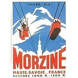 FRANCIA VINTAGE POSTER CARTEL PUB RETRO 50x70cm Savoy mosaico de esquí