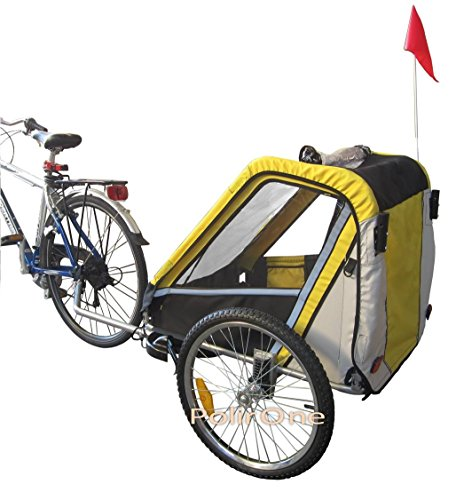 PAPILIOSHOP LEON Anhänger Kinderwagen 360° Drehbar Caddy für den Transport von 1 oder 2 Ein Zwei Kinder Kinder mit Die Fahrradanhänger jogger Fahrrad Vorderrad Fahrrad drehbare Kindertrage Baby Kinder Sackkarre klappbar KinderFahrradanhänger Transportwagen Handwagen - 3