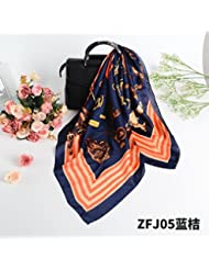 yrxdd Petite Echarpe Rouge de l'écharpe de l'écharpe de l'echarpe carrée (les 70* 70cm), Orange Bleu