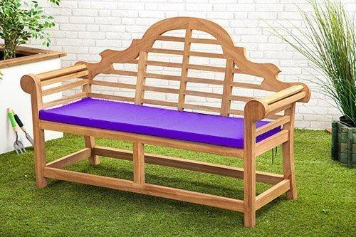 Gardenista Wasserabweisend Lutyens Gartenbank Kissen in lila-Kleine