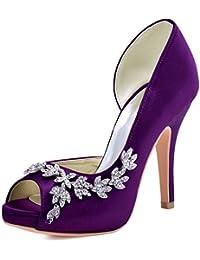Amazoncouk Purple Court Shoes Womens Shoes Shoes Bags