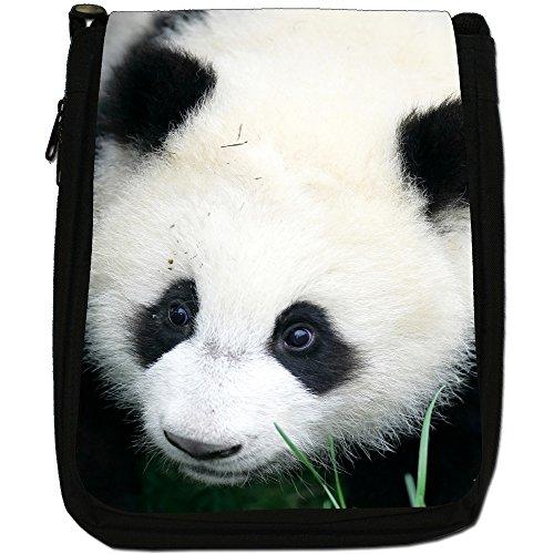 Panda Medium Nero Borsa In Tela, taglia M Panda Looking Sad
