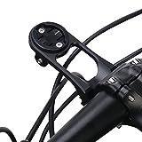 Dioche Soporte de Extensión ara Bicicleta, Soporte de Montaje en Computadora para Bicicleta, Soporte de AleacióN De Aluminio, Ciclismo, Soporte de Montaje para VáStago de Bicicleta(Negro)
