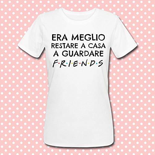 T-shirt donna Era meglio restare a casa a guardare Friends, serie tv  inspired e7c9ca9a94