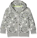NAME IT Baby-Jungen Sweatshirt NMMFABOOMY SWE Card W Hood UNB Grau (Grey Melange) 92