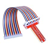 ExcLent Rpi Gpio Breakout Expansion Board + 20Cm 40Pin Flat Ribbon Cable Für Raspberry-Red