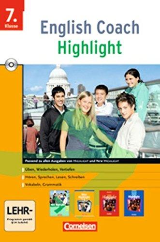 English Coach Highlight - Zu New Highlight (alle Ausgaben) - Version für zu Hause: Band 3: 7. Schuljahr - CD-ROM (Wie Texte Zu Schreiben)
