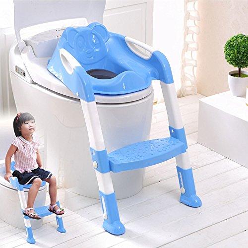 Fineway @ Baby Kinder/Kleinkind/Kind WC-Töpfchen Training Schritt Leiter WC-Sitz Schritte Assistant Töpfchen für Kleinkinder Kind WC-Trainer Potty Training Wc-schritt