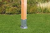 GAH-Alberts 208110 Einschlag-Bodenhülse für Vierkantholzpfosten, mit verstellbarem Topf - feuerverzinkt, 91 x 91 mm / 750 mm Test