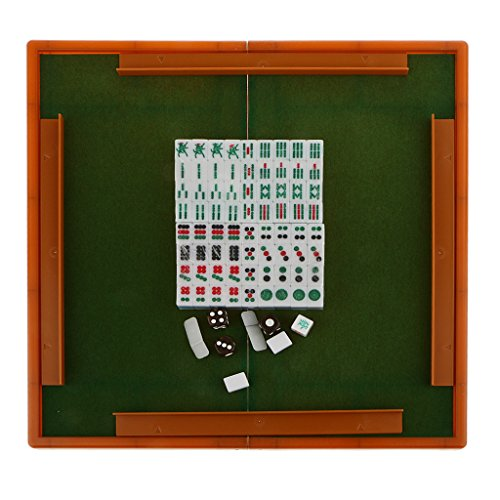 Mini Mahjong-Spiel Chinesische Traditionelle Spiel Partyspiel - Blau, /