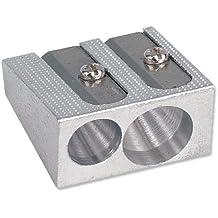 5 Star 924871 - Sacapuntas (metálico, para diámetro máximo de 8 mm, 2 orificios, 5 unidades), color gris