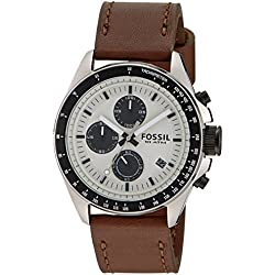 Fossil End-of-Season Chronograph Silver Dial Men's Watch - CH2882