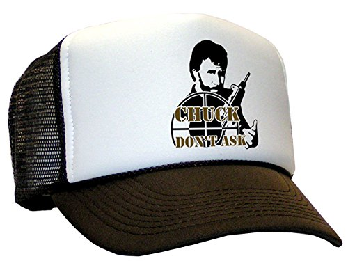 Raphia Art Mesh Casquette Chuck Norris Don't Ask for./Brown