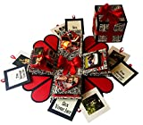#9: Crack of Dawn Crafts 3 Layered Romantic Heart Explosion Box for Birthday - Black Text