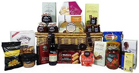 Exquisite Food Hamper Presented In A Wicker Basket 25 Items Ideas For Birthday Wedding Anniversary And Corporate Amazon Co Uk Grocery