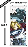 CoolChange Fullmetal Alchemist Rollbild / Kakemono aus Stoff, 100x40cm, Motiv: Ed & Al Elric