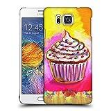 Head Case Designs Offizielle Howie Green Kosmisches Cupcake Speisen und Getränke Ruckseite Hülle für Samsung Galaxy Alpha