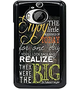 ColourCraft Quote Design Back Case Cover for HTC ONE M9 PLUS