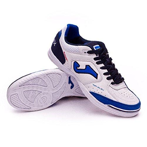 Joma_scarpe Calcetto Top Flex Indoor Tops_820 Bianco-Azzurro