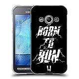 Head Case Designs Born to Run Fitness Typographie Soft Gel Hülle für Samsung Galaxy Xcover 3