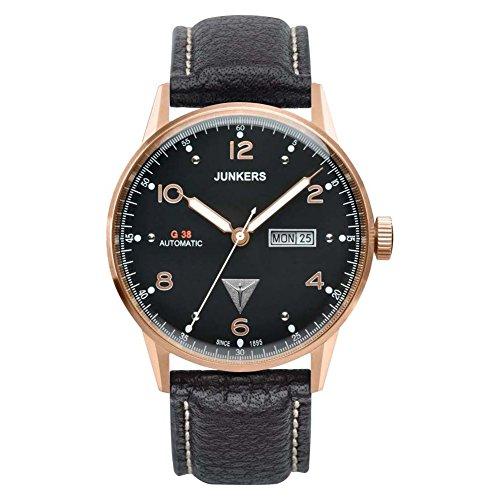 Junkers Herren Analog Automatik Uhr mit Leder Armband 69685