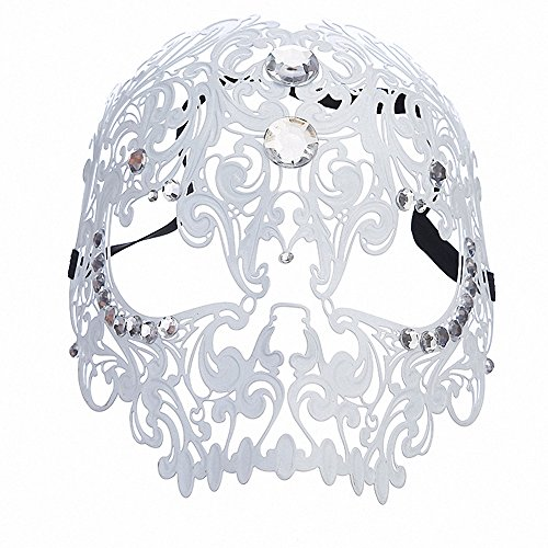 Queenshiny® Retro Maske für Maskerade Party (Weiß (volles (Halloween Kostüme Musikalische)