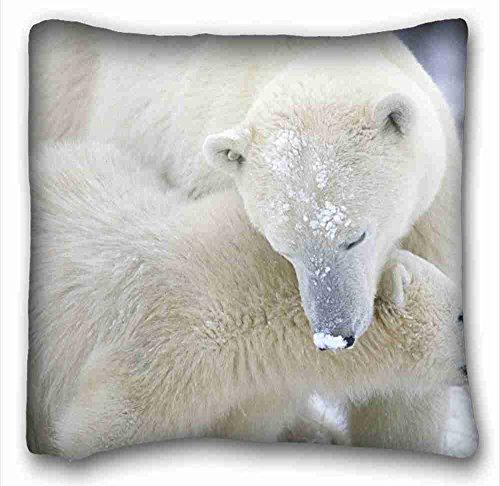 Animal Throw Pillowcase Soft Kissen Case Cover (Tiere Eisbären) Soft Kopfkissen Schutzhülle 40,6x 40,6cm (One Seiten) Reißverschluss Kissenbezüge Geeignet für Queen-Bed pc-bluish-1915 -