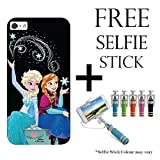 Hamee Disney Frozen Princess Licensed Hard Back Case Cover For iPhone 6 Plus / 6s Plus Cover with Free Selfie Stick Monopod – Combo 39