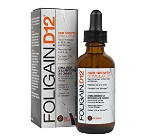 FOLIGAIN.D12 HAIR GROWTH STIMULATOR (12% Trichogen DHT blocker) (2oz) 59ml