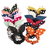 Cinra 20pcs Rabbit Ears Hair Bands Rubbe...