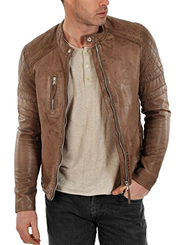 Noora Men's 100% Pure Leather Jacket Slim Fit