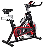 51bc16zQAJL. SL160  - BEST BUY #1 CrystalTec® Premium Indoor Aerobic Training Cycle Exercise Bike Fitness Cardio Workout Machine - 22kg Flywheel - With Hand Pulse Sensor and New and Improved Soft Seat Reviews and price compare uk