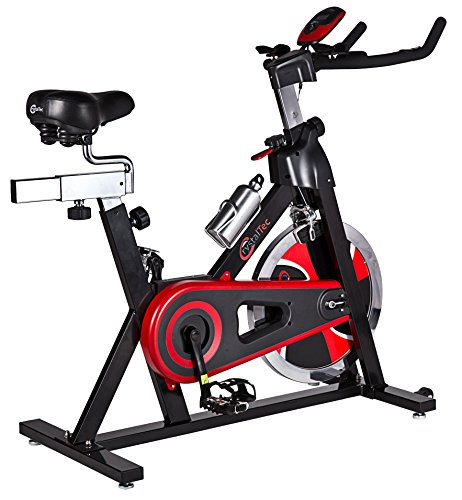 51bc16zQAJL - BEST BUY #1 CrystalTec® Premium Indoor Aerobic Training Cycle Exercise Bike Fitness Cardio Workout Machine - 22kg Flywheel - With Hand Pulse Sensor and New and Improved Soft Seat Reviews and price compare uk